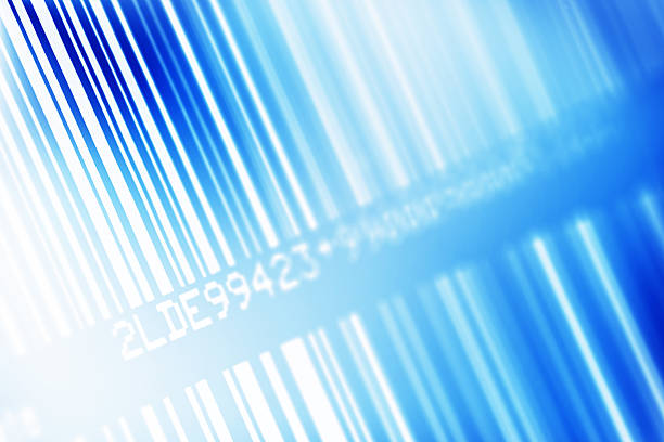 Blue Barcode stock photo