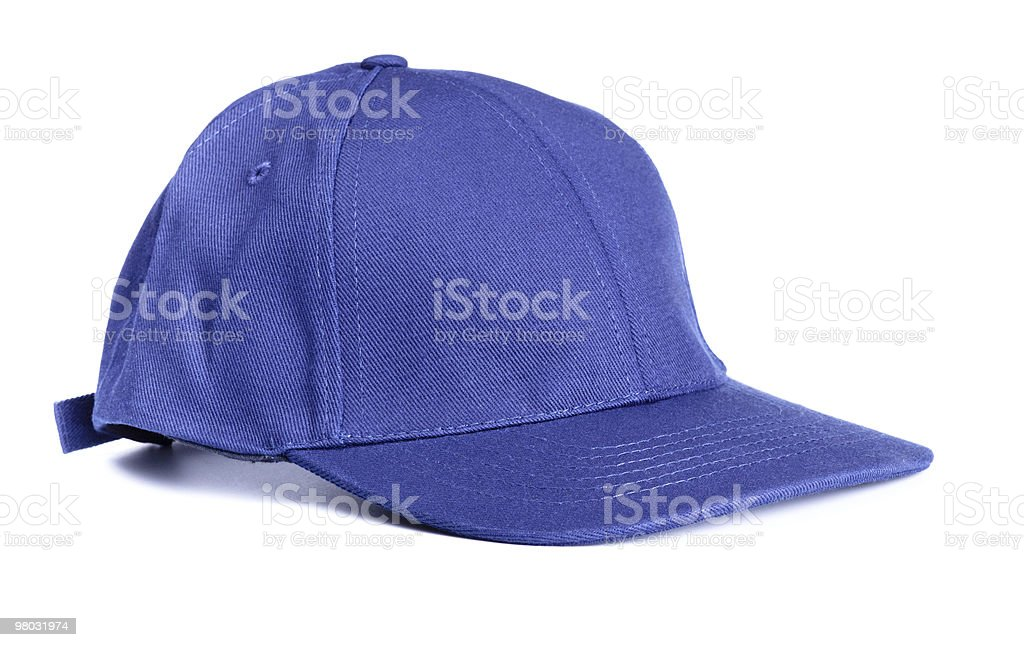 Cappellino da baseball blu foto stock royalty-free