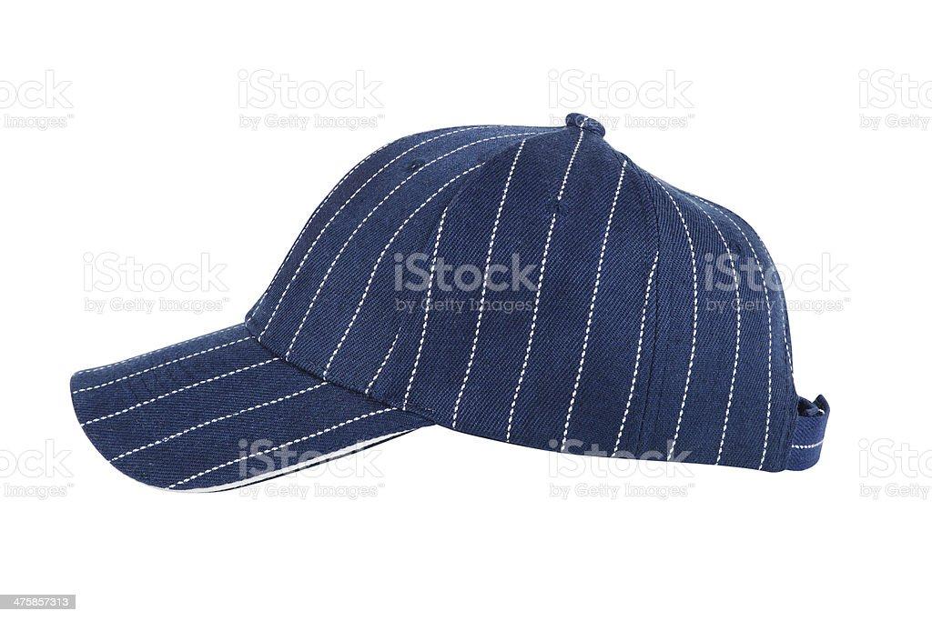 Blue Baseball Hat Isolated royalty-free stock photo