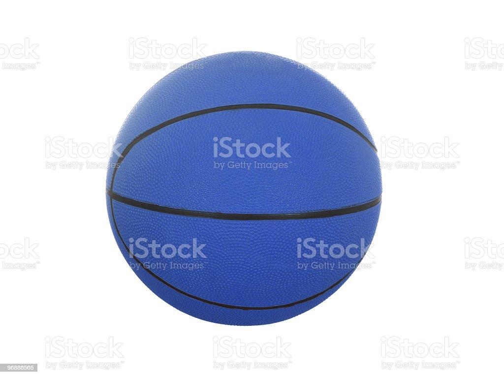 Blue basketball ball stock photo
