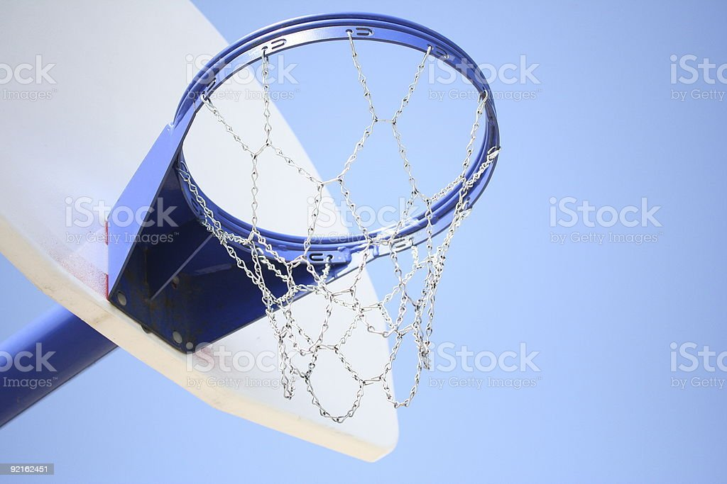 Blue Basketball Hoop royalty-free stock photo