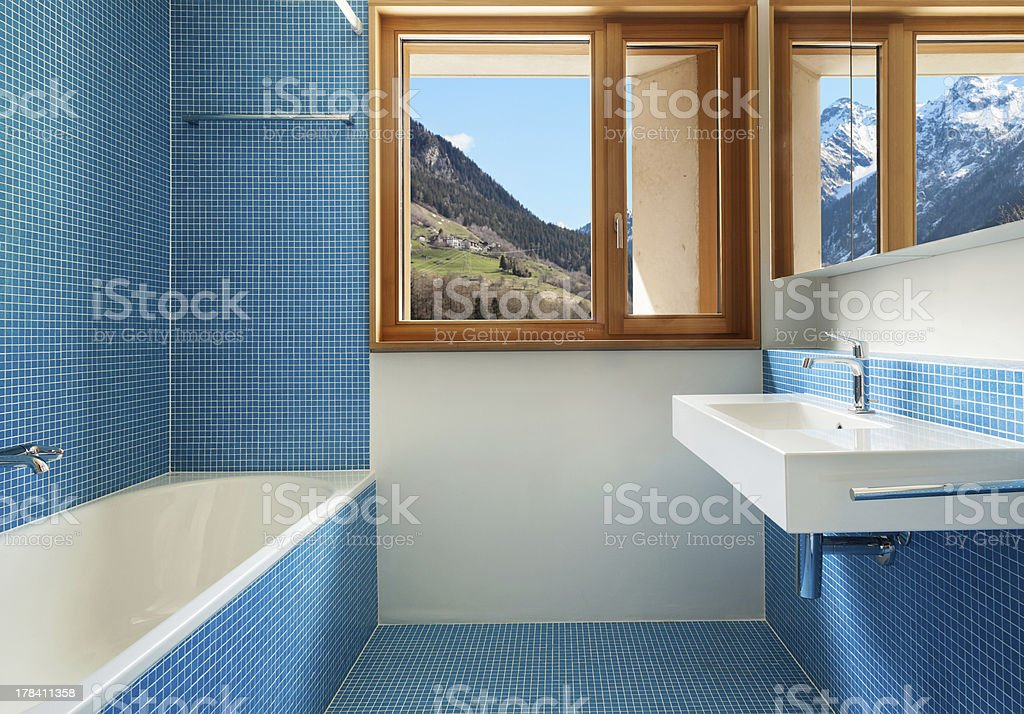 blue bathroom royalty-free stock photo