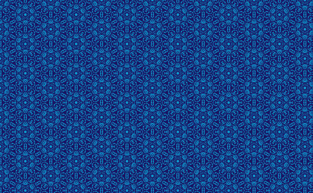 Blue Batik Pattern stock photo