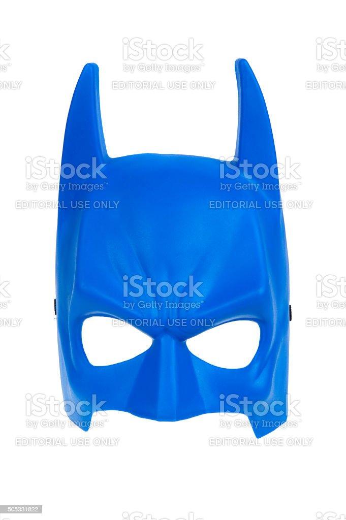 Batman maschera blu - foto stock