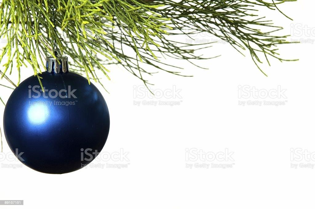 Weihnachtsbaum Ast.Blue Bauble Schmücken Weihnachtsbaum Stockfoto Und Mehr Bilder Von