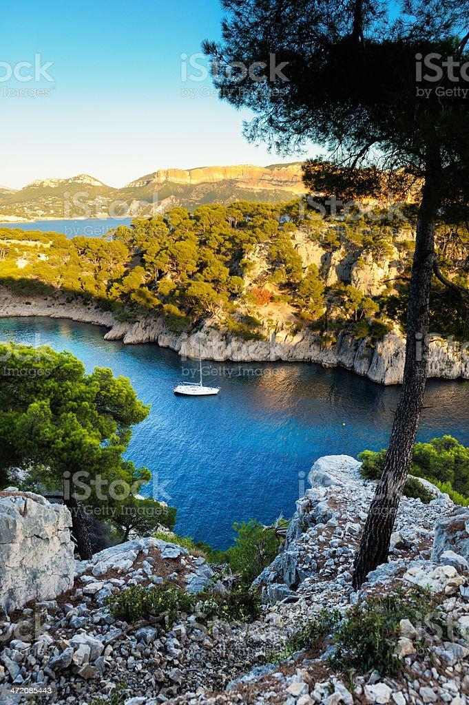 Blue Bay at French Riviera royalty-free stock photo