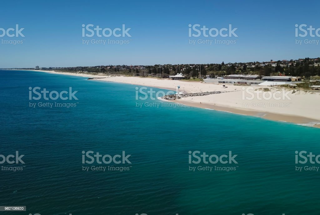 Blue Baywatch House in Perth stock photo