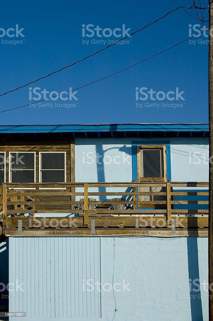 Blue Beach Apartment royalty-free stock photo