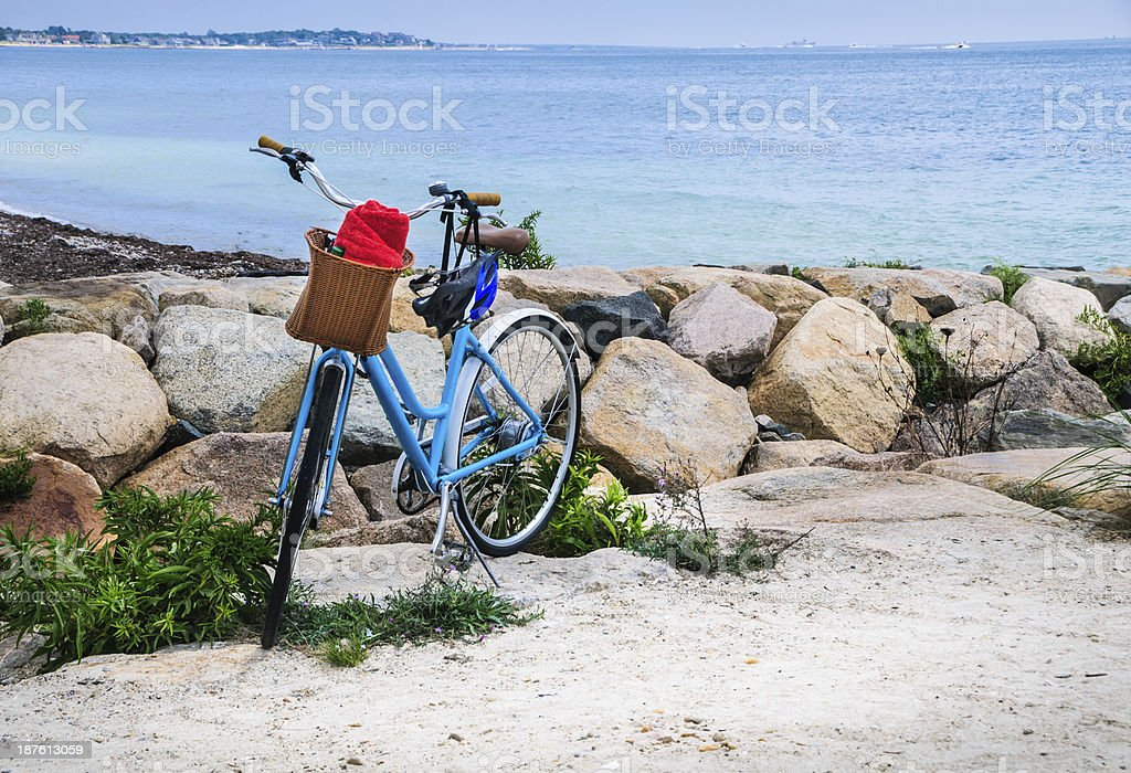 Blue Beach Bike stock photo
