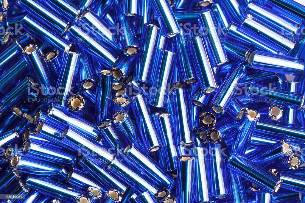Синий бусинами стоковое фото