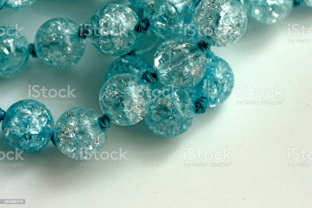 blue beads royalty-free stock photo