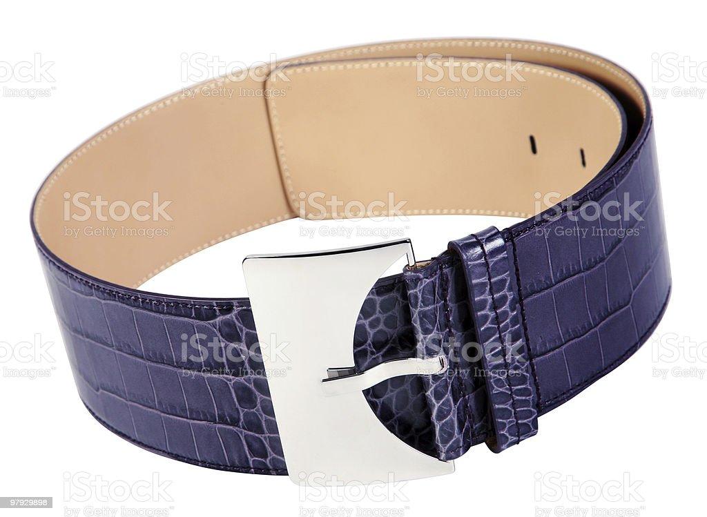 Blue belt accessory royalty-free stock photo