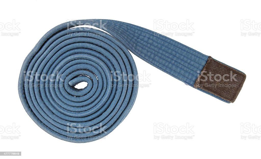 Blue belt isolated stock photo