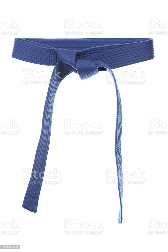 Blue belt stock photo