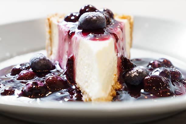 Blue berry cheese cake stock photo