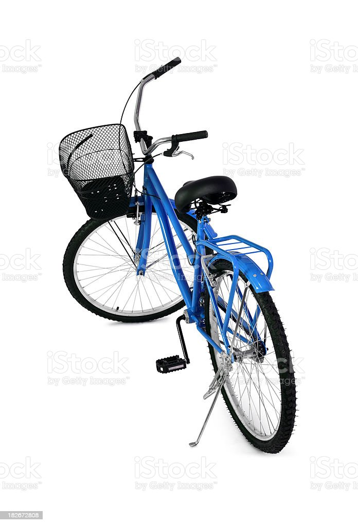 Blue Bicycle / Full Clipping path royalty-free stock photo