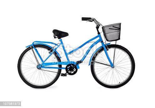 Blue Bicycle with full clipping path.