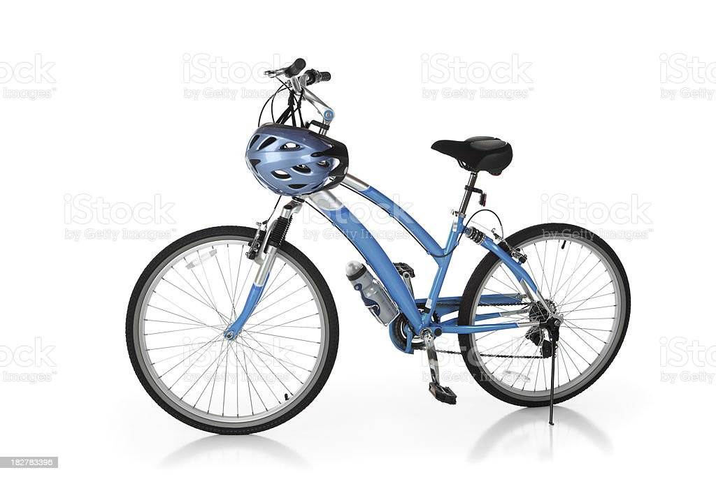 Blue Bicycle royalty-free stock photo
