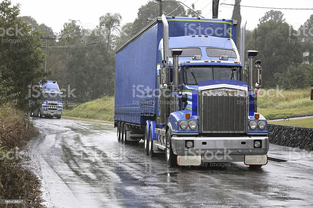 Blue Big Rig royalty-free stock photo