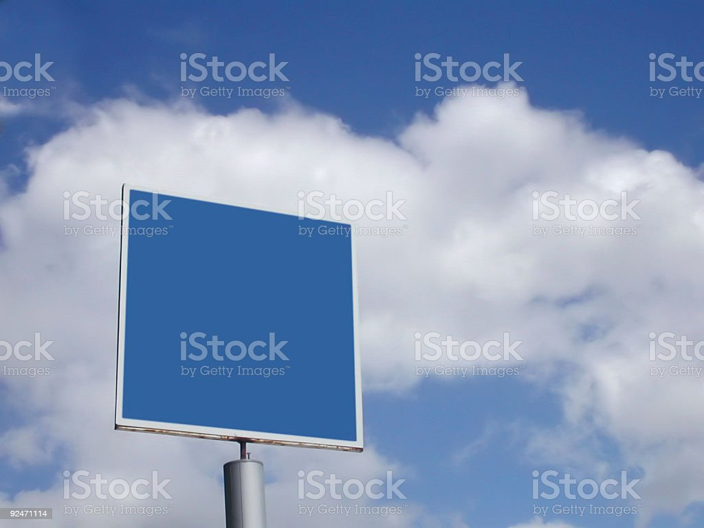 blue billboard in the sky royalty-free stock photo