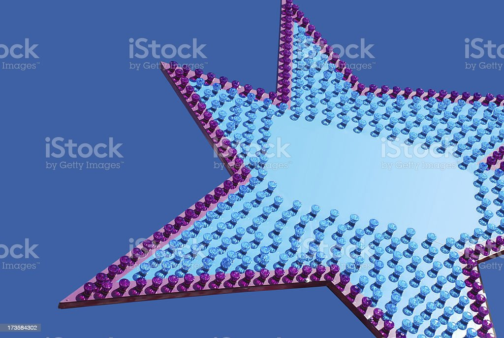 Blue Billboard with Lights royalty-free stock photo