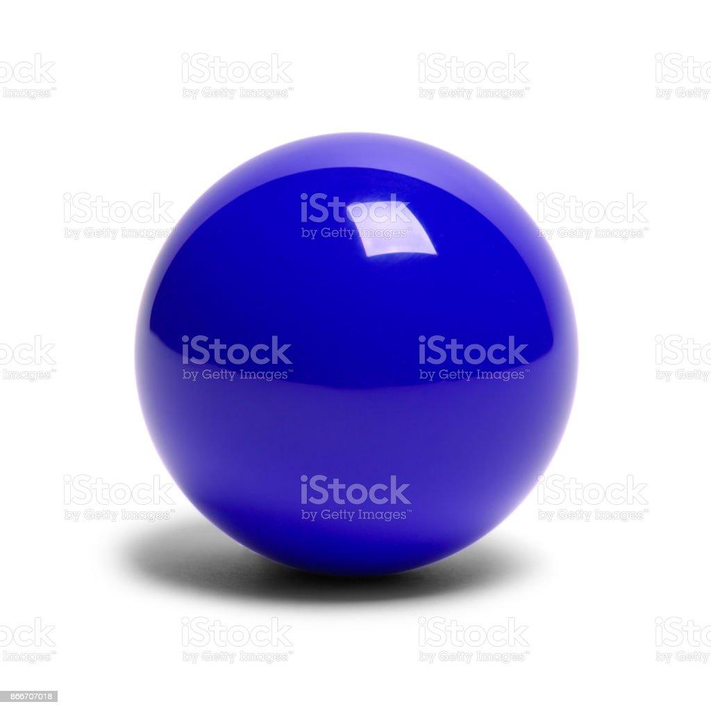 Bola de billar azul piscina - foto de stock