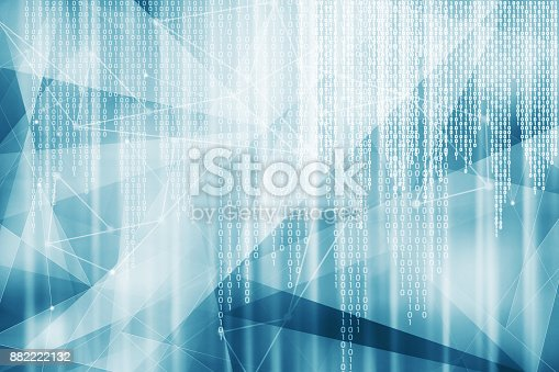 882222132 istock photo Blue binary code hitech background 882222132