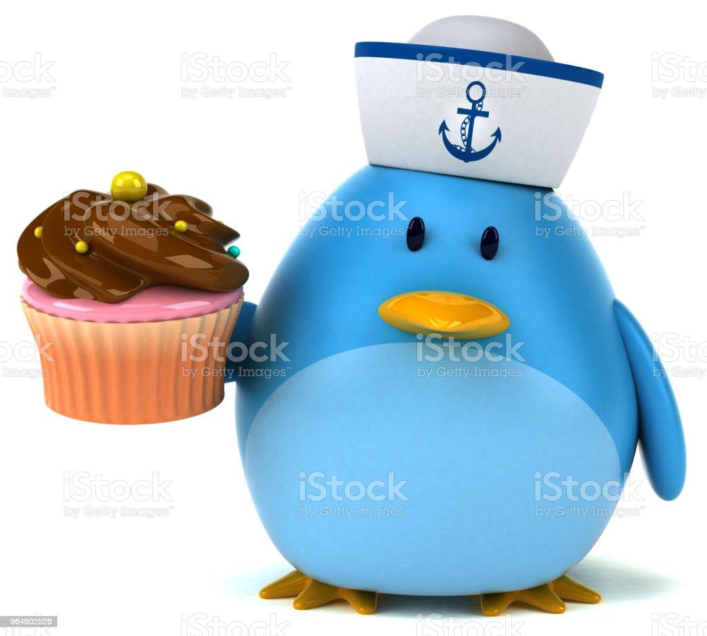 Blue bird - 3D Illustration royalty-free stock photo