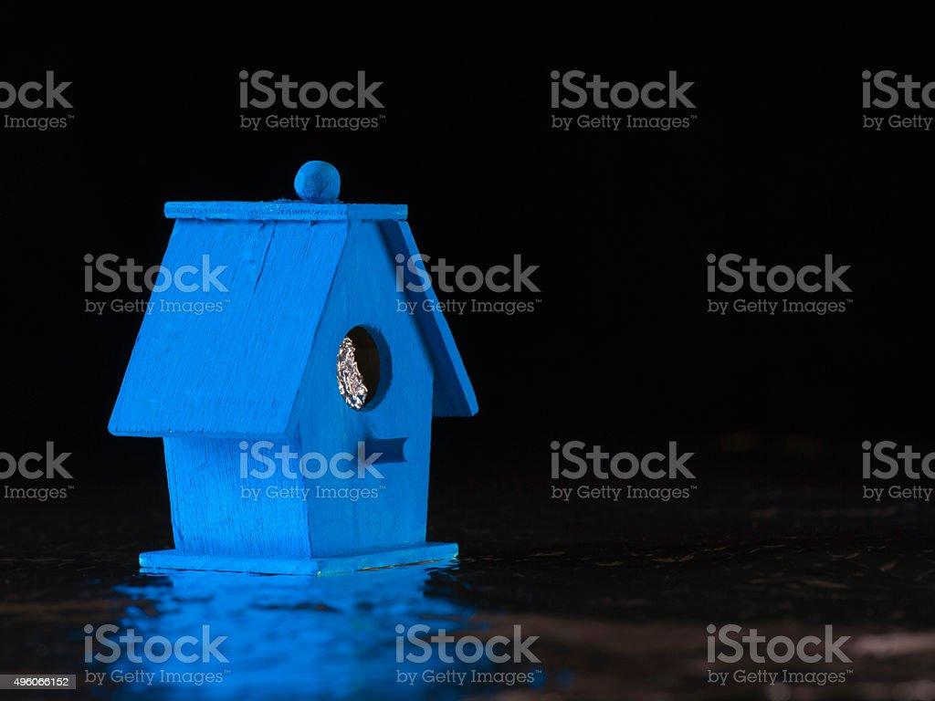Blue Bird Boat House stock photo