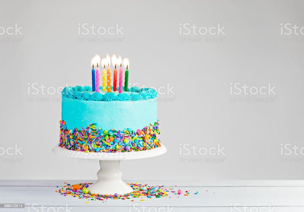 Blue Birthday Cake – zdjęcie