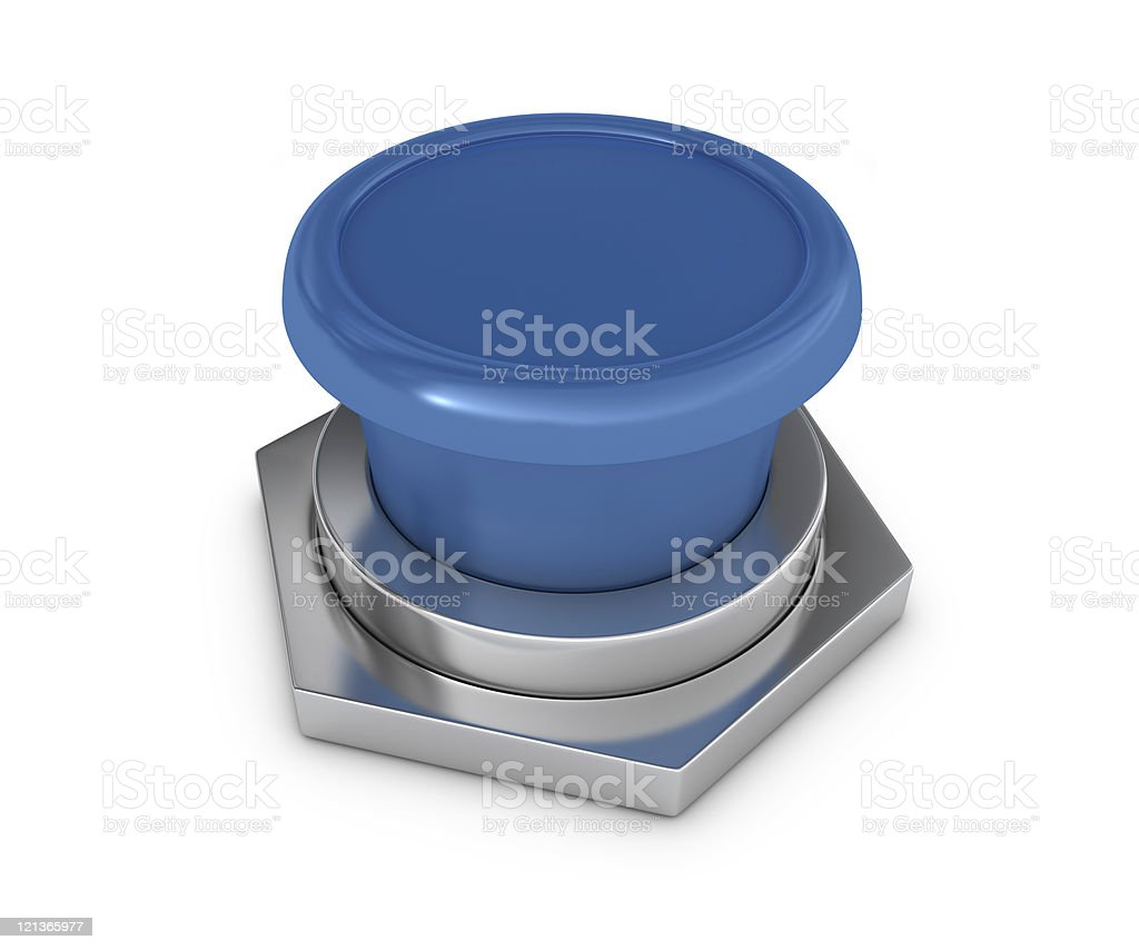 Blue Blank Button royalty-free stock photo