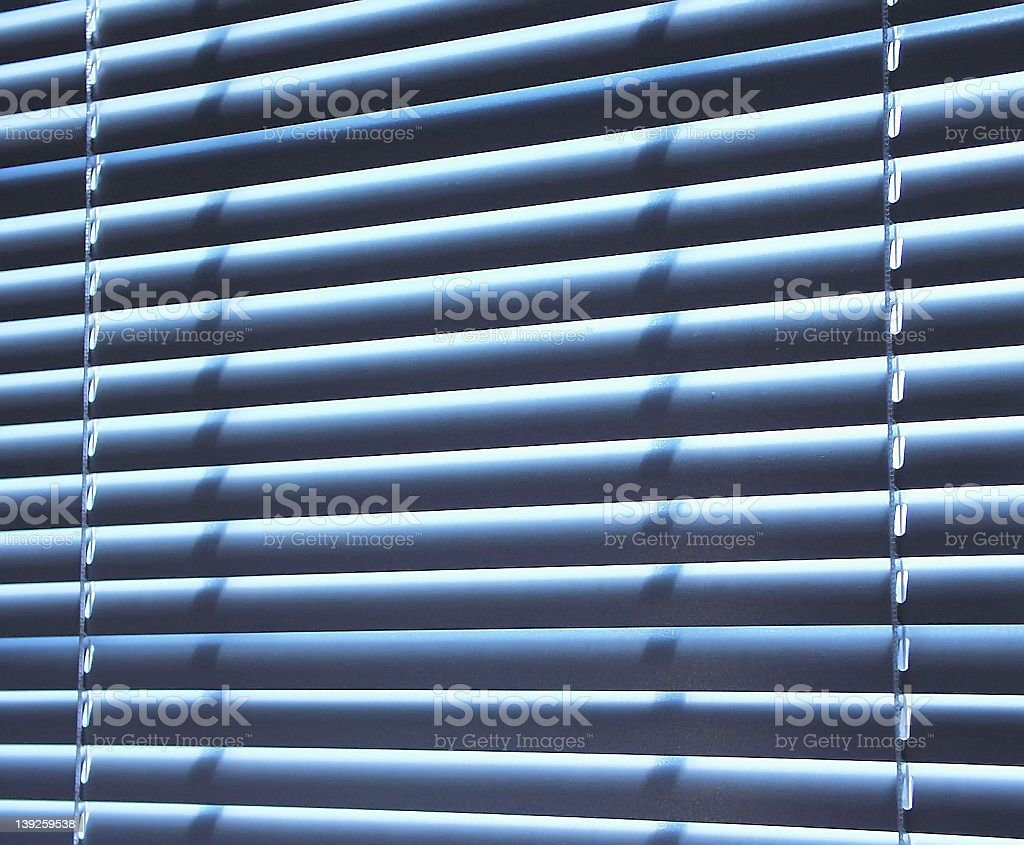blue blinds royalty-free stock photo