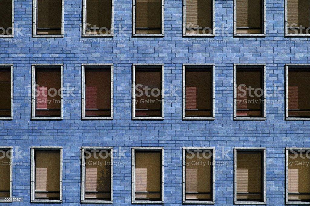 Blue block windows stock photo