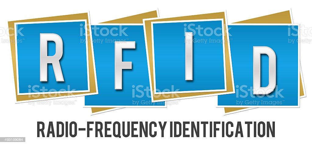 RFID Blue Blocks stock photo