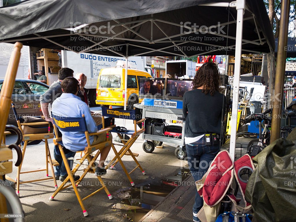 Blue Bloods Location Shoot Manhattan stock photo