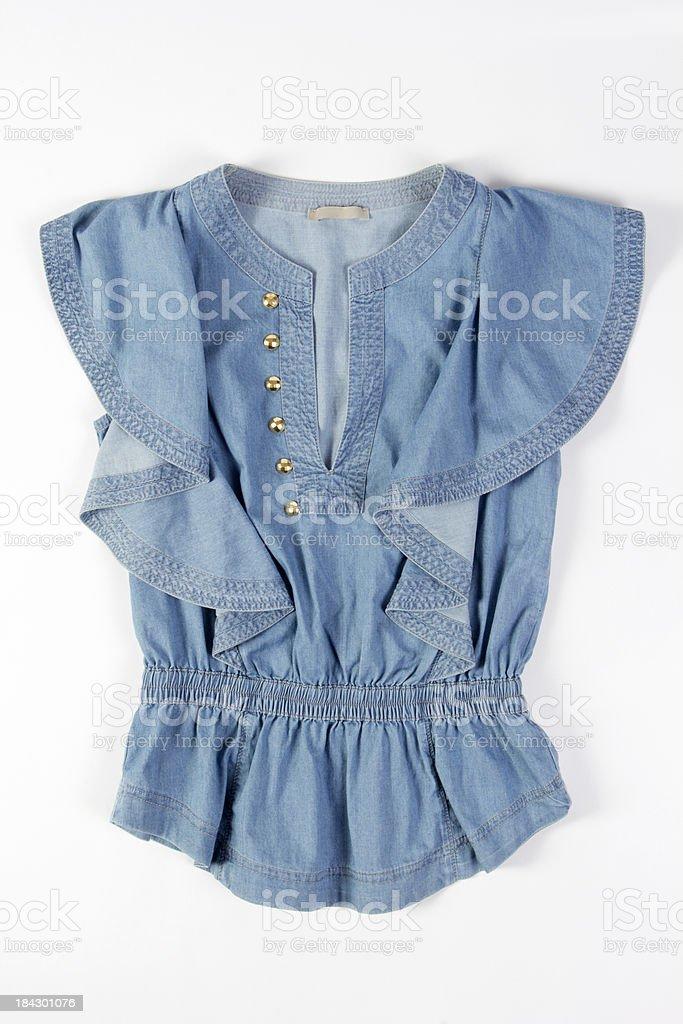 blue blouse royalty-free stock photo