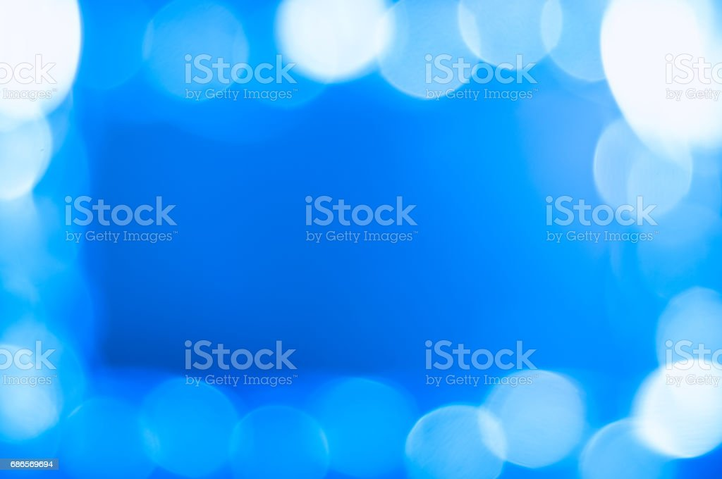 Blue blurred abstract background with bokeh foto stock royalty-free