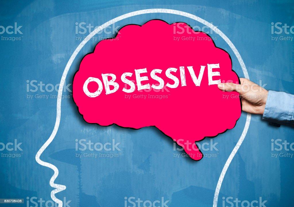 OBSESSIVE / Blue Board Concept (Click for more) stock photo