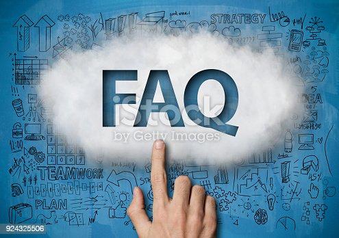 istock FAQ / Blue board concept (Click for more) 924325506