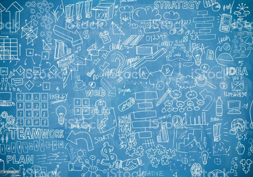 Tablero azul con cartas (haga clic para más información) - foto de stock