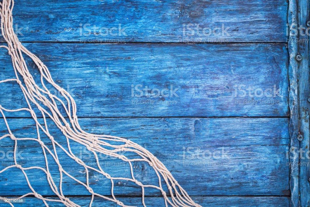 Blue board with net стоковое фото