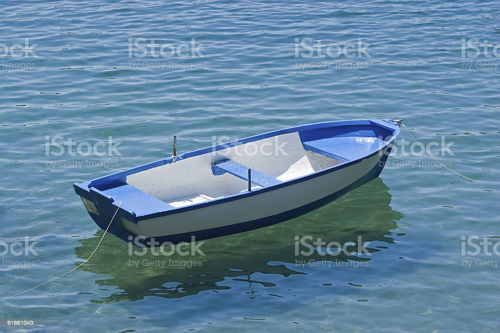Blue Boat royalty-free stock photo