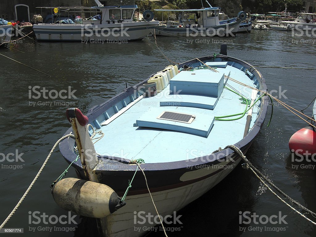 Blue Boat royalty-free stock photo