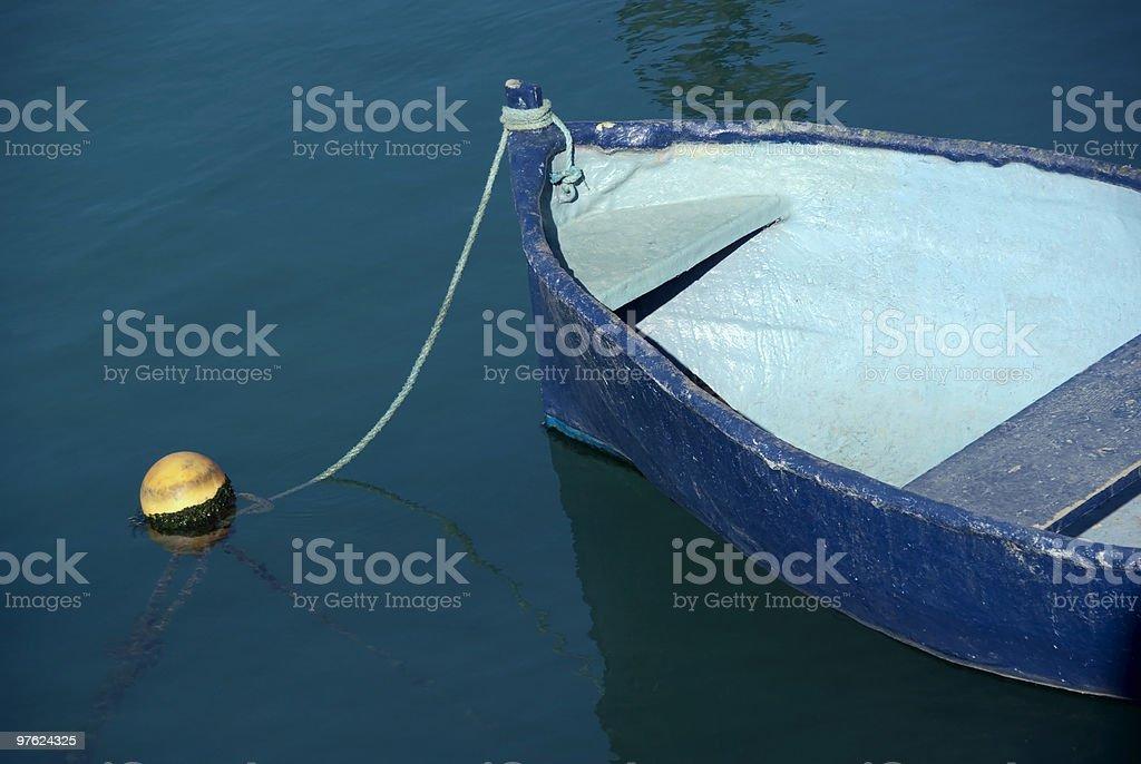 Bleu de bateau photo libre de droits