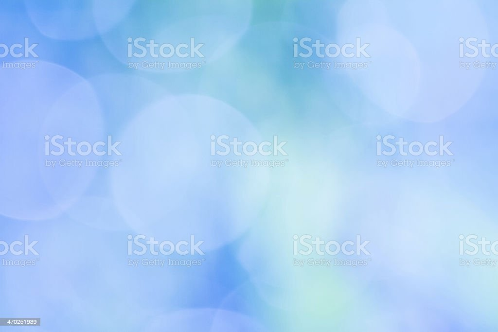 Blue bokeh as an abstract background stock photo