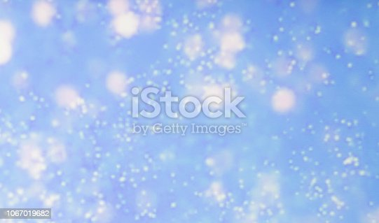 istock Blue Bokeh Lights Abstract Background 1067019682