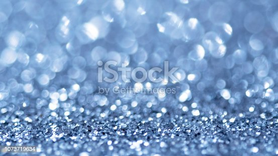 istock Blue Bokeh Lights Abstract Background 1073719634