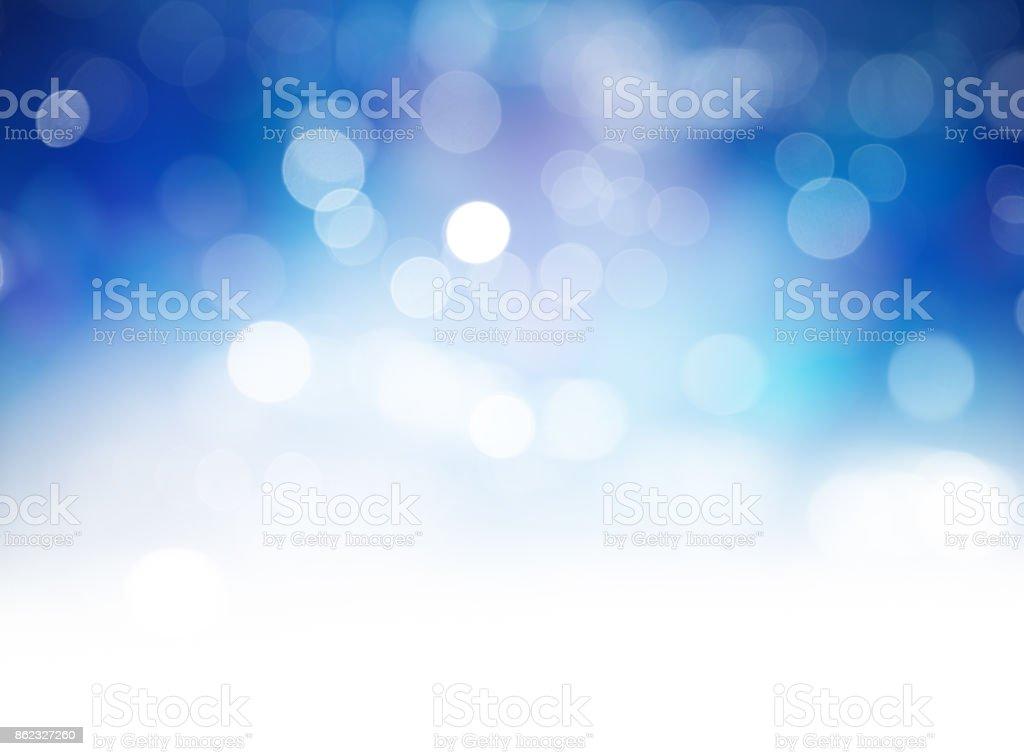 Blue Bokeh Lights Abstract Background - Zbiór zdjęć royalty-free (Barwne tło)