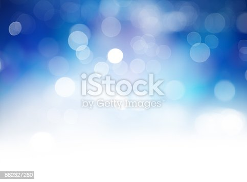 istock Blue Bokeh Lights Abstract Background 862327260