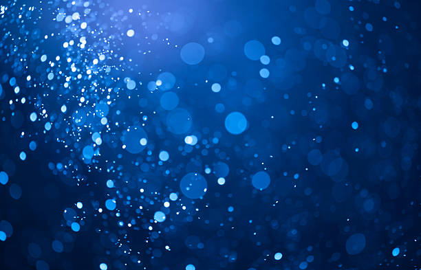 blue bokeh lights background stock photo